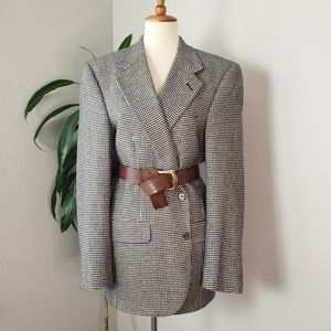 Burberrys Vintage Cashmere Houndstooth Blazer